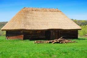 http://www.dreamstime.com/stock-photo-old-wooden-house-straw-roof-image14153240