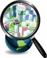 http://www.dreamstime.com/stock-photos-globe-under-magnifying-glass-city-image29319603